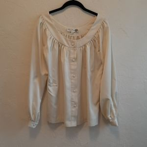 Vintage Chessa Davis Peasant Blouse XL